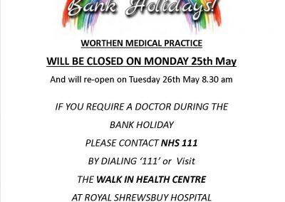 Late May bank holiday poster